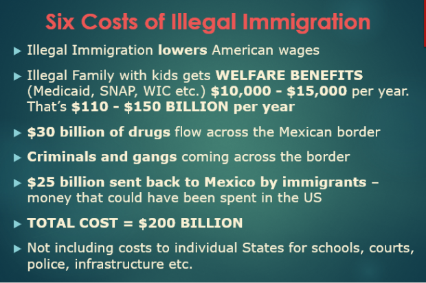 Illegal Immigration - 6 costs