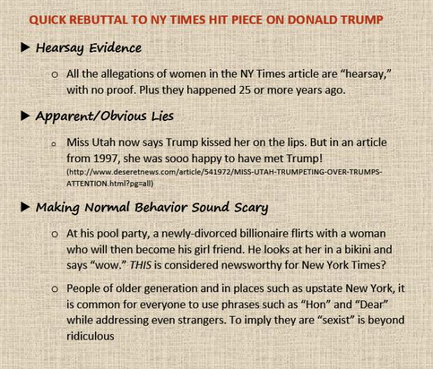 Rebuttal NY Times