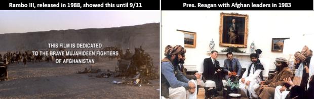 Mujahideen-Rambo-Reagan-Taliban