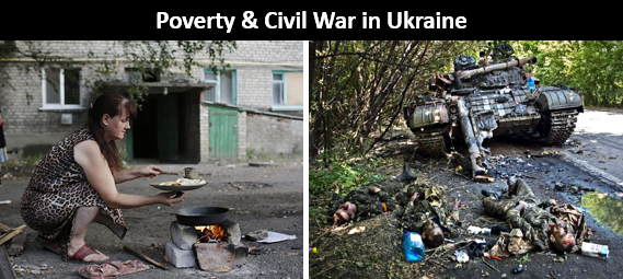 Ukraine poverty war
