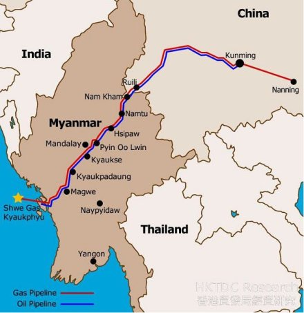 China-Silk Road - Myanmar