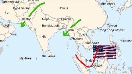 Pakistan-Myanmar China