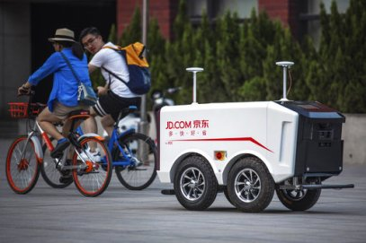 Self-driving delivery vehicle from JD.com