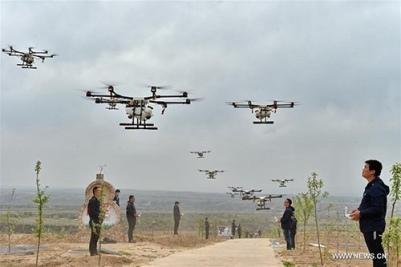 Farmers using drones to spray pesticide, monitor crops etc.