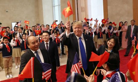 Trump Waves Communist flag