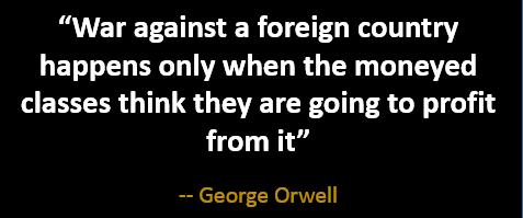 orwell war profit